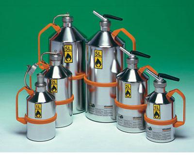 Bidoni di sicurezza in acciaio inox per liquidi infiammabili