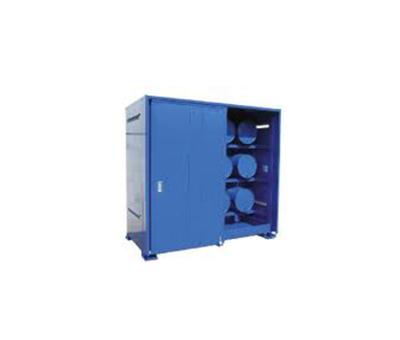 Container di sicurezza per lo stoccaggio di fusti in orizzontale