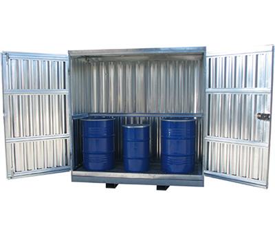 Container in lamiera grecata Zincata