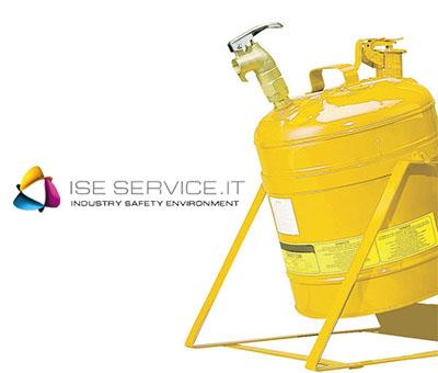 Contenitore inclinabile di sicurezza con rubinetto Lt 19