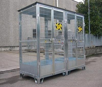 Deposito in acciaio per bombole a gas - Serie Leggera 2