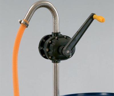 Pompa rotativa ad azionamento manuale per acidi - specifica per solventi e prodotti chimici