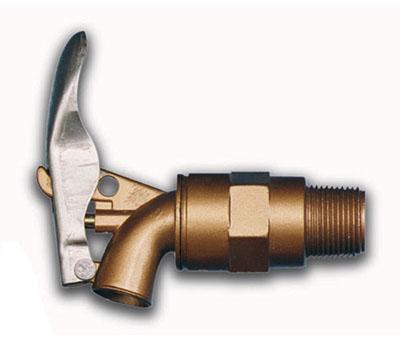Rubinetti per fusti in lega di alluminio con chiusura di sicurezza automatica