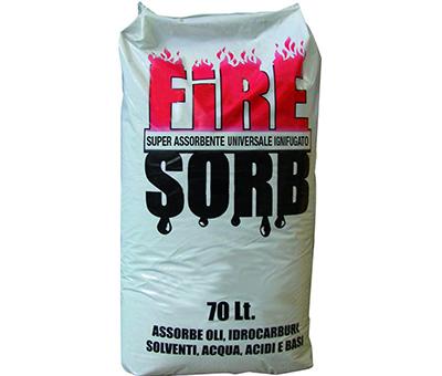 UNISORB FIRE Assorbente industriale ignifugo per liquidi e grassi
