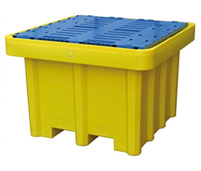 Vasche di contenimento in polietilene per lo stoccaggio di fusti e cisternette