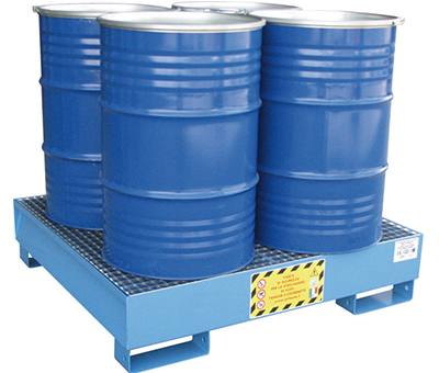 Vasche di Raccolta per 4 fusti da 200 kg