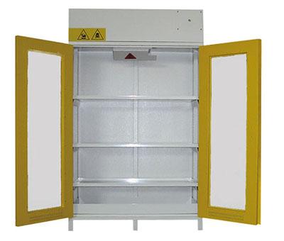 armadi di sicurezza certificati per acidi, chimici e basi con ante a
