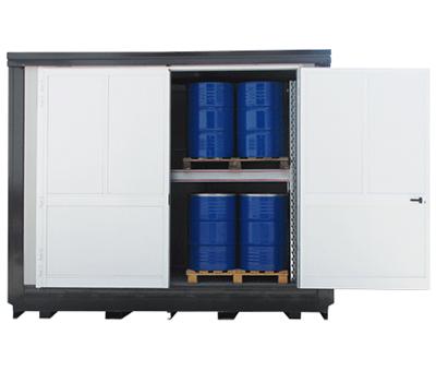 Container di sicurezza per lo stoccaggio di fusti in verticale 2