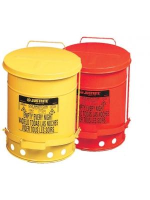 Contenitore rifiuti di scarto infiammabili o oleosi in metallo con coperchio