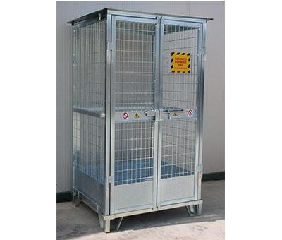 Deposito in acciaio per bombole a gas - Serie Leggera