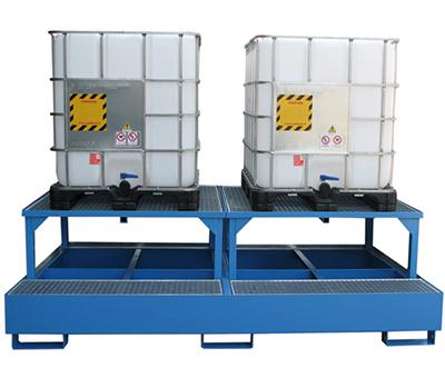 Vasca di raccolta per 2 cisternette da 1000Kg 2