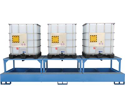 Vasca di raccolta per 3 cisternette da 1000Kg 2