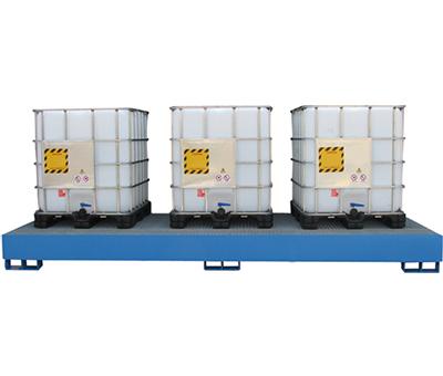 Vasca di raccolta per 3 cisternette da 1000Kg