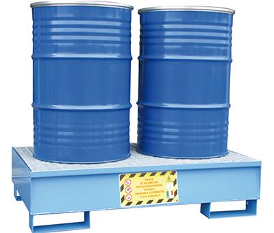 Vasche di Raccolta per 2 fusti da 200 kg