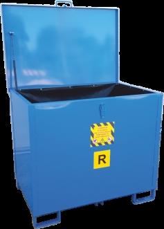contenitore chiuso raccolta accumulatori esausti
